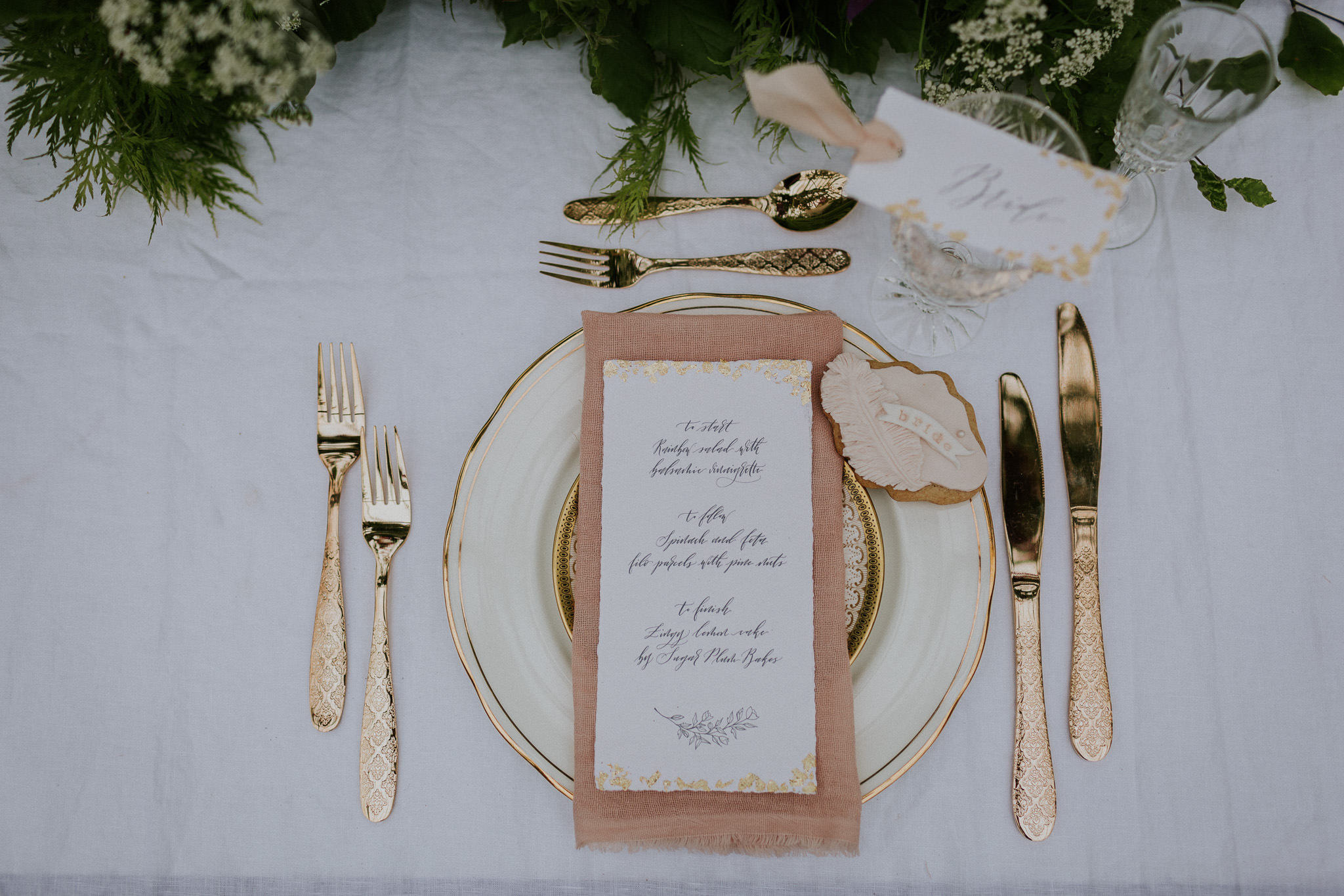 elegant wedding menu