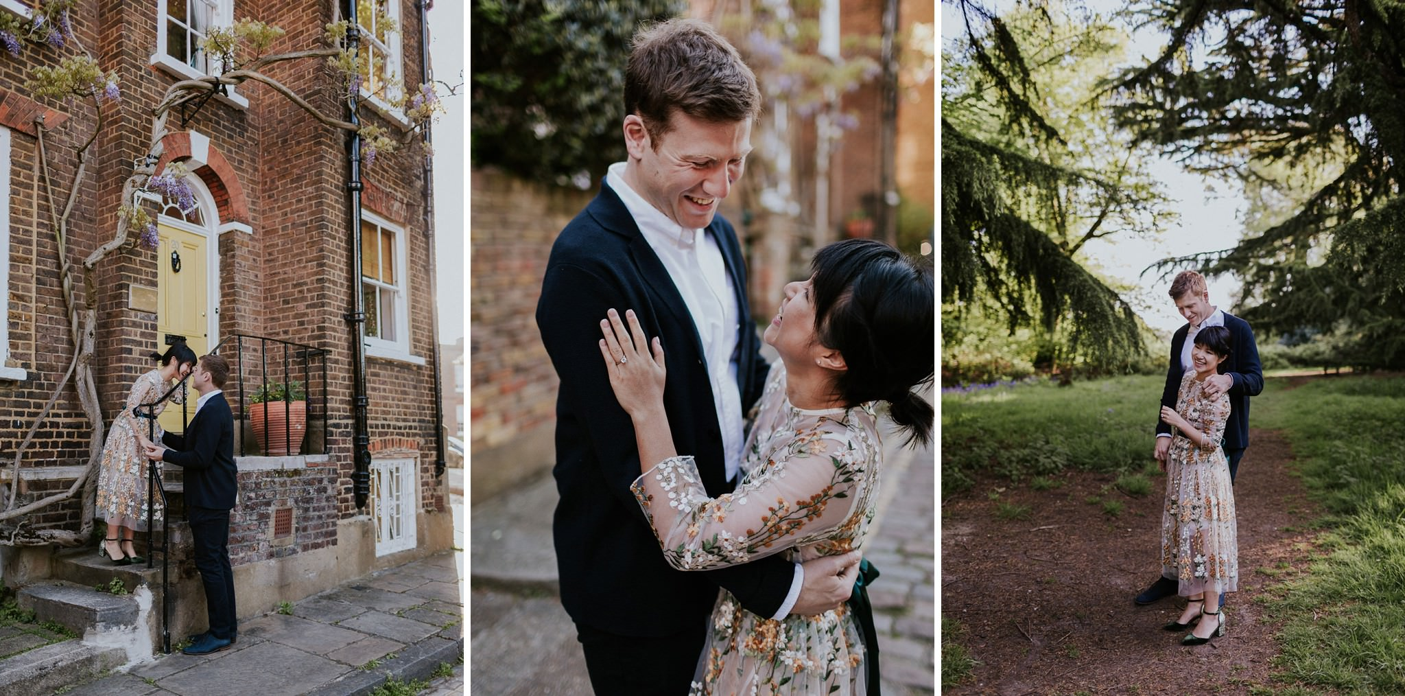 Couple engagement photos in Hampstead