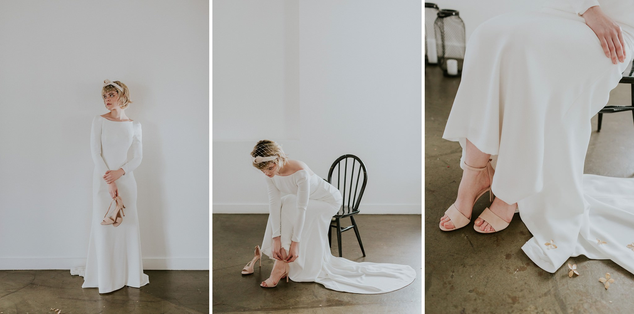Minimalist wedding at Carousel London