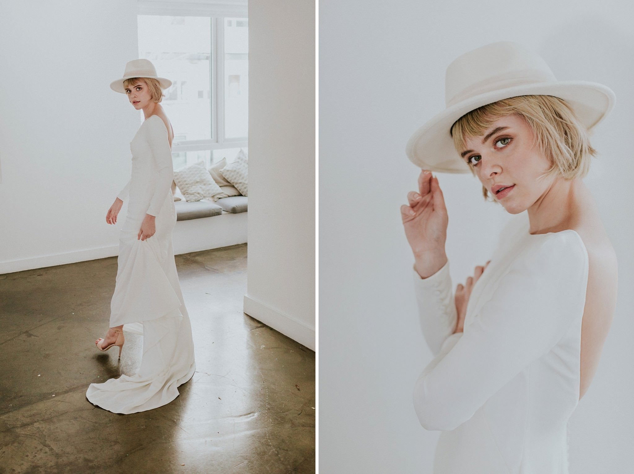 Modern minimalist wedding at Carousel London