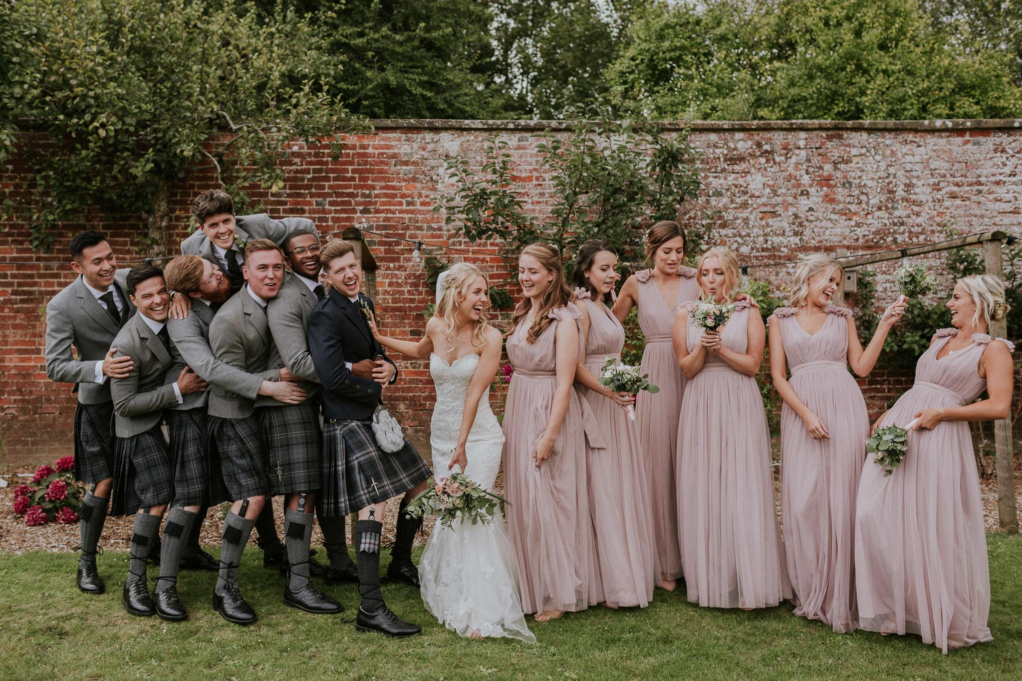 Highden Estate wedding party