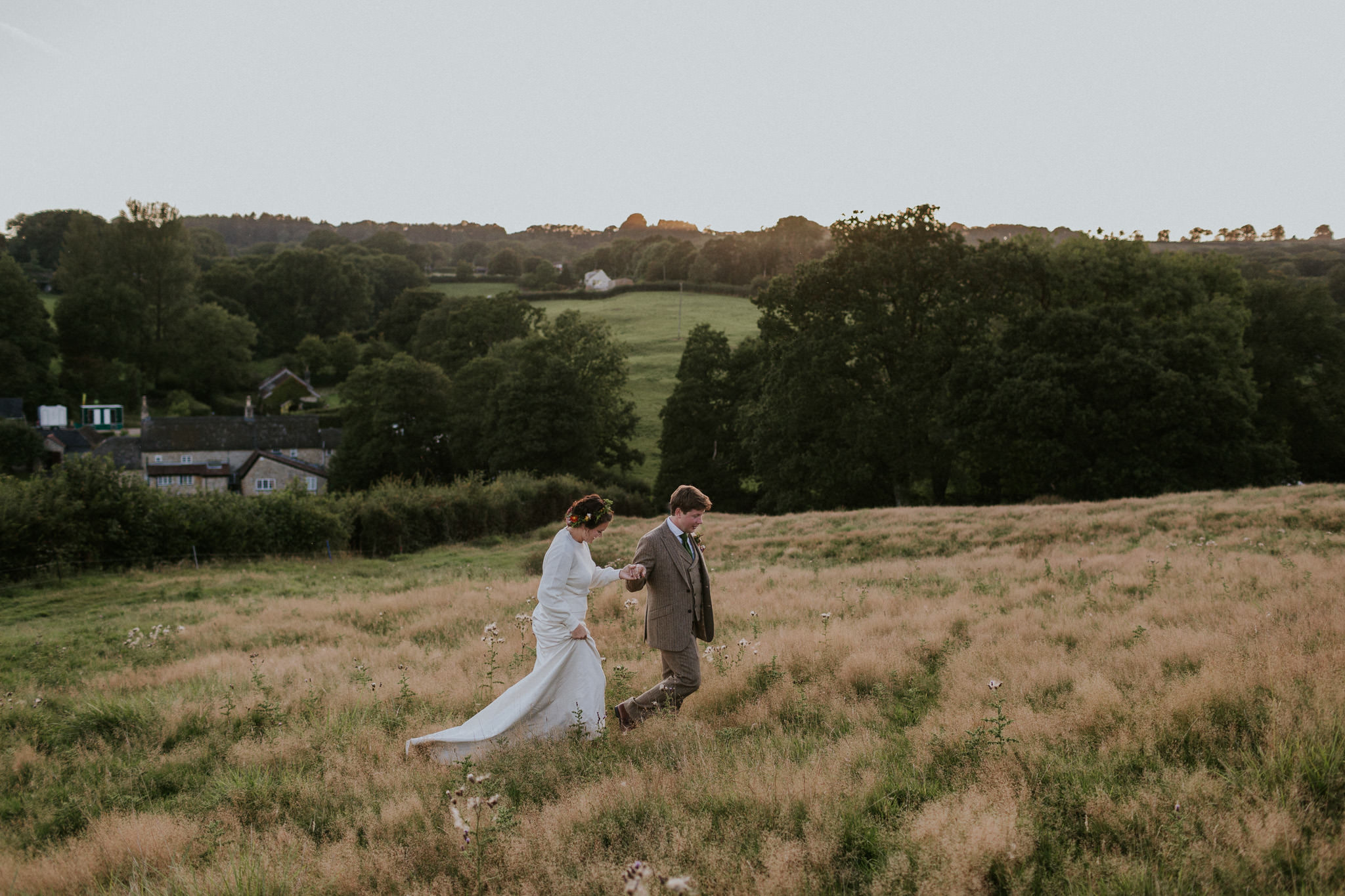 Festival Themed Wedding Photography, Devon | Imogen & Nat