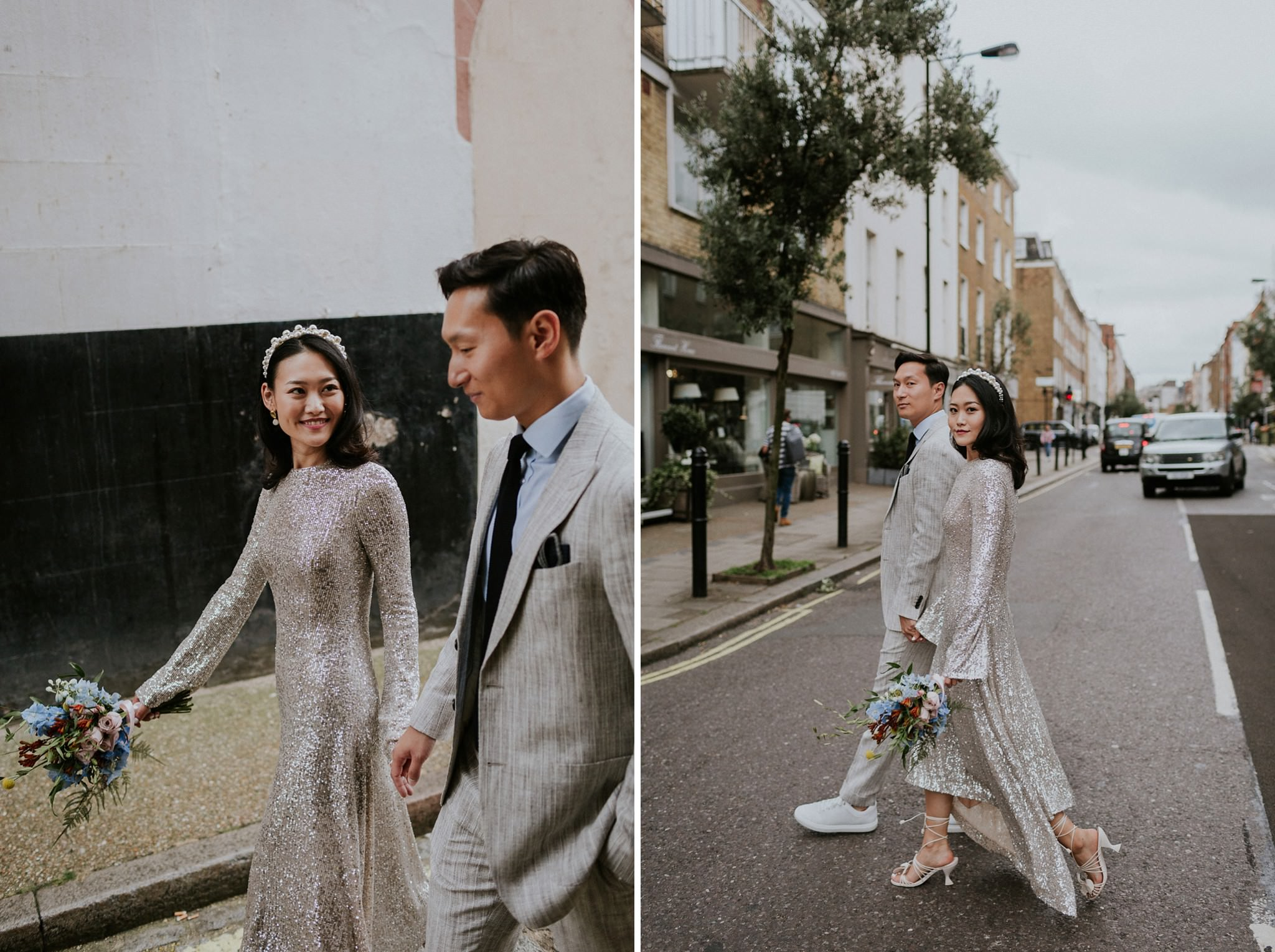 Intimate London wedding at the Marylebone Town Hall